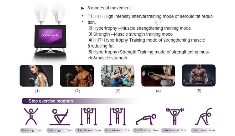 Hi emt technology muscle building equipment body sculpting  machine