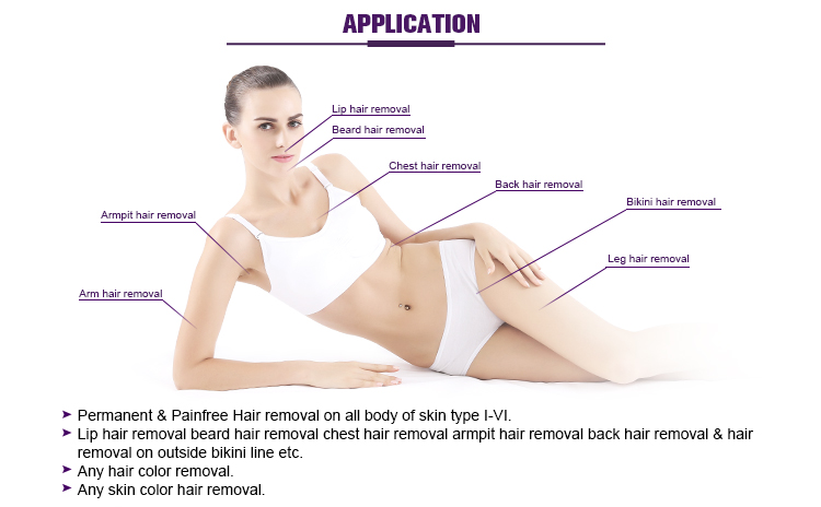 Diode Laser Beauty Salon Equipment Hair Epilation Pain Free US425N