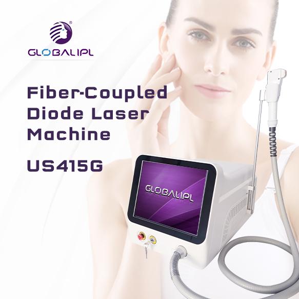 OEM Hair Removal Equipment Fiber Coupled 808 Diode Laser US415G