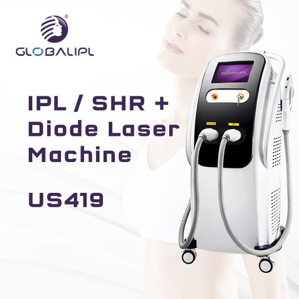 Hair Removal Skin Rejuvenation IPL Shr 808nm Diode Laser Machine US419